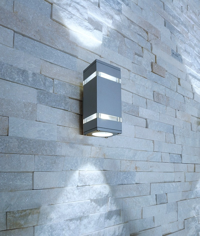 Moderne led up and down wandleuchte square 2 x 3 watt led for Moderne badlampen