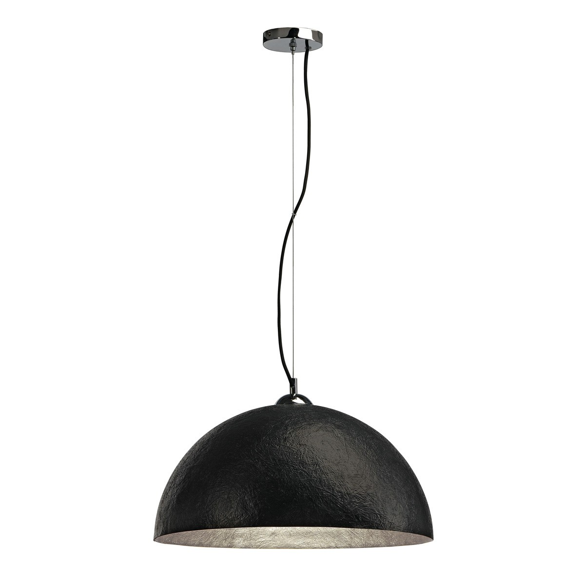 modische slv pendelleuchte forchini pd 1 rund schwarz silber innenleuchten pendelleuchten. Black Bedroom Furniture Sets. Home Design Ideas