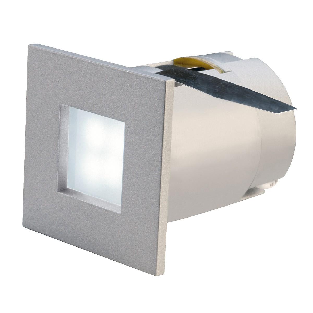 mini frame led einbaustrahler eckig silbergrau 0 3w 4. Black Bedroom Furniture Sets. Home Design Ideas