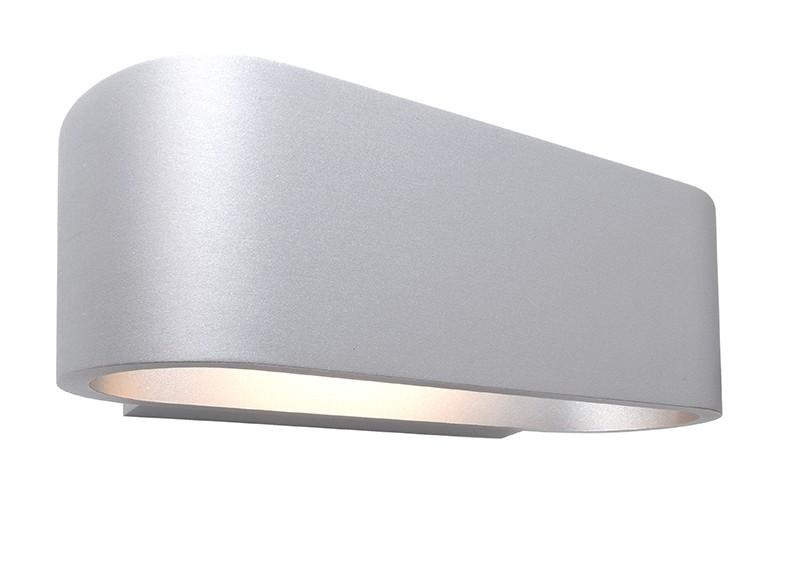 Design deko light wandleuchte ossa aus aluminium silber for Design couchtisch remember in silber aus aluminium