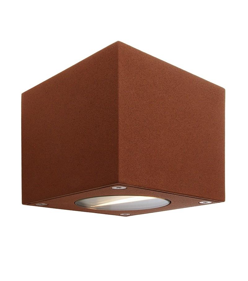 up and down led aussen wandleuchte cubodo braun led. Black Bedroom Furniture Sets. Home Design Ideas