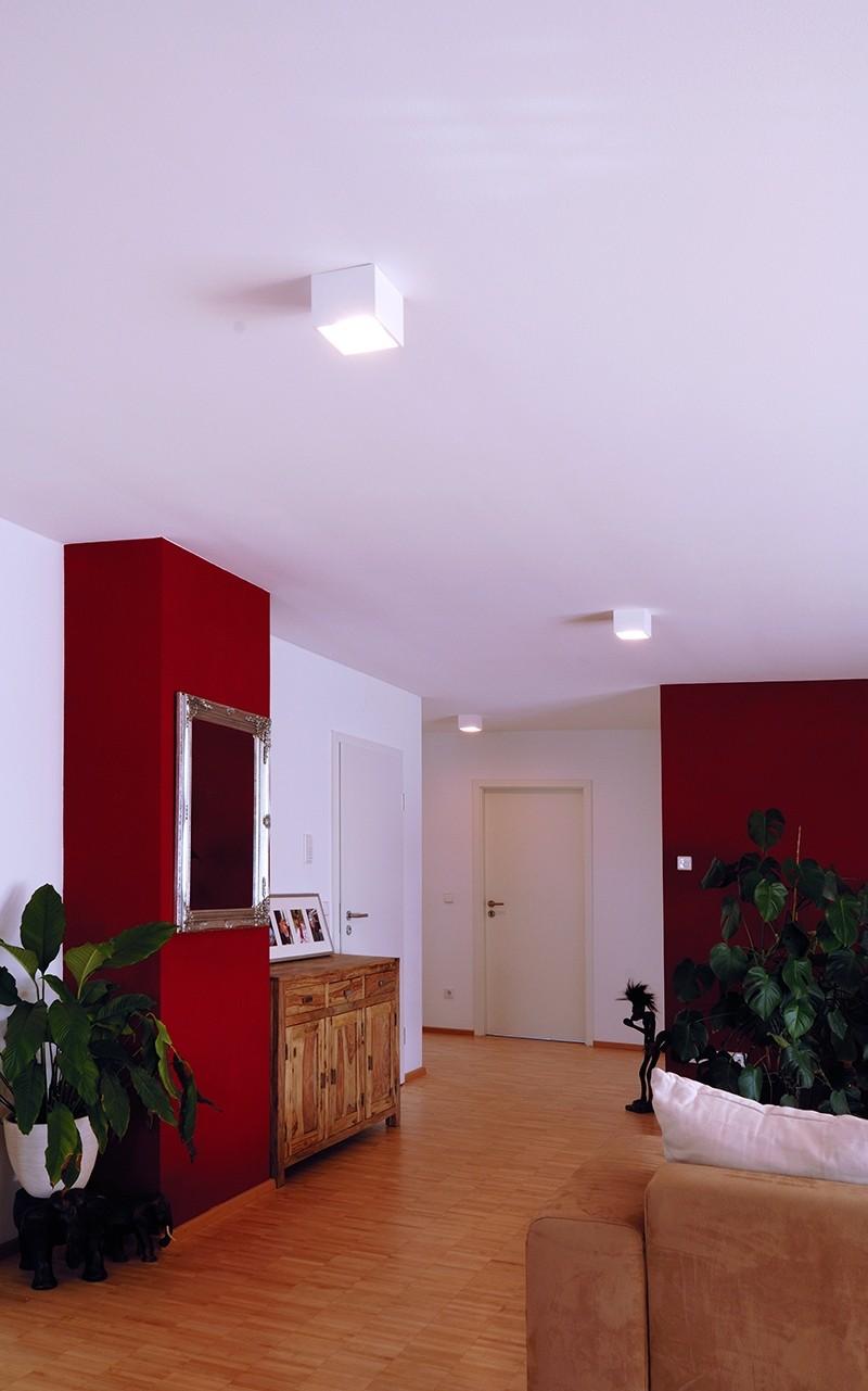 quadratische deko light deckenleuchte aufbauleuchte caja. Black Bedroom Furniture Sets. Home Design Ideas