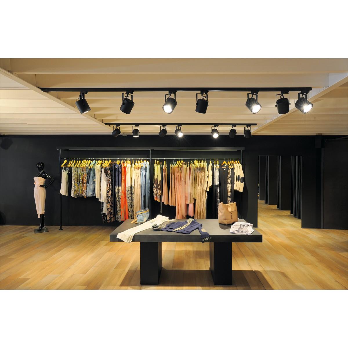 slv 3 phasen strahler euro spot es111 schwarz. Black Bedroom Furniture Sets. Home Design Ideas