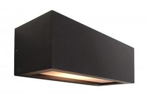 anthrazitfarbene up and down wandleuchte rilongo f r. Black Bedroom Furniture Sets. Home Design Ideas