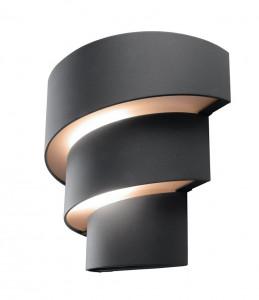 warmwei strahlende led au en wandleuchte lute anthrazit. Black Bedroom Furniture Sets. Home Design Ideas