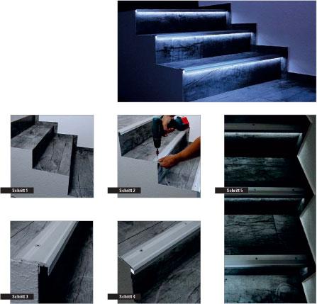 profile f r led strips led technik els licht. Black Bedroom Furniture Sets. Home Design Ideas