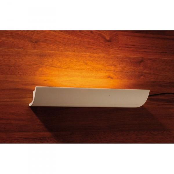 wandleuchte apart flur wandlampe wandfluter gipsleuchte gips r hre t5 ebay. Black Bedroom Furniture Sets. Home Design Ideas